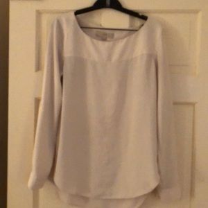 Loft. Ivory long sleeved blouse. Size small.